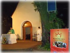 Aussendungsgottesdienst für 170 Weltjugendtag-Pilger aus Paraguay (Foto: Fleitas)