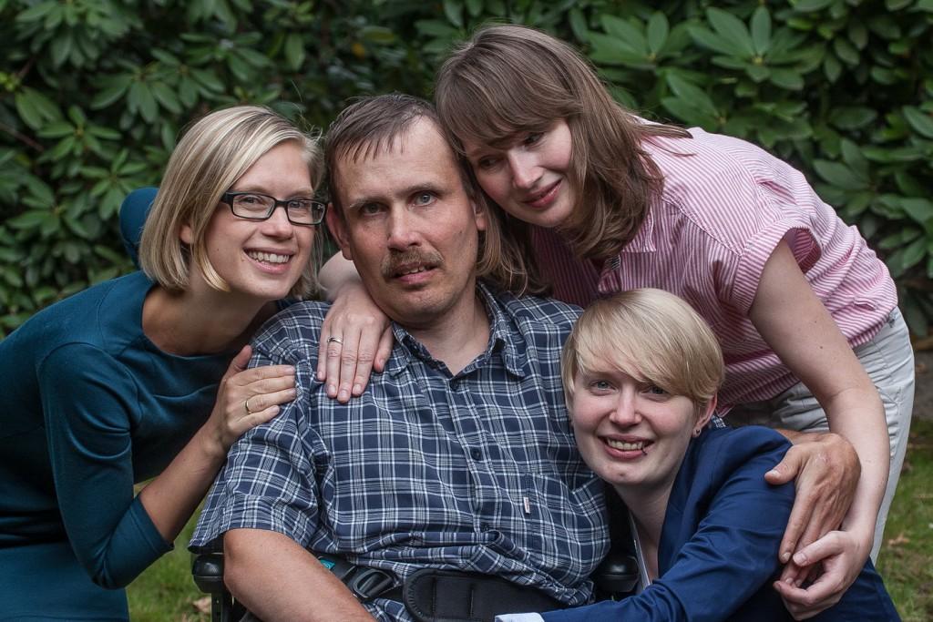 Martin mit seinen Schwestern