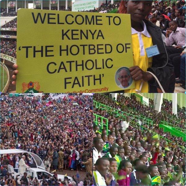 Papst Franziskus spricht mit der Jugend Kenias über ...