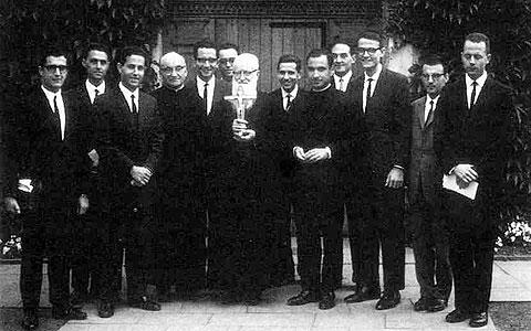 El Padre Kentenich con seminaristas de los Padres de Schoenstatt en Münster