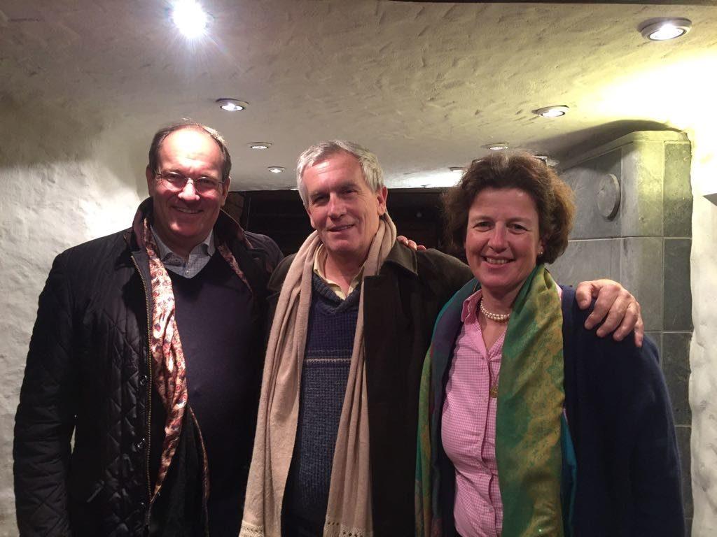 Carlos Barrio con Melanie y Ulli Grauert