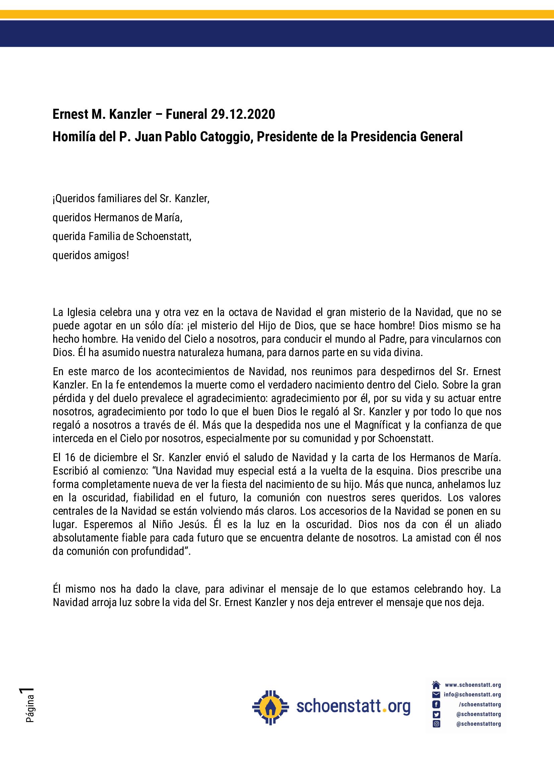 pdf de la predica del P Juan Pablo Catoggio
