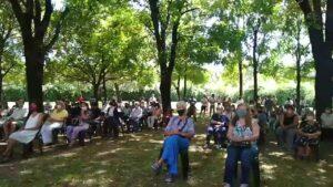 Solo un centenar de personas estuvieron presentes en Sion