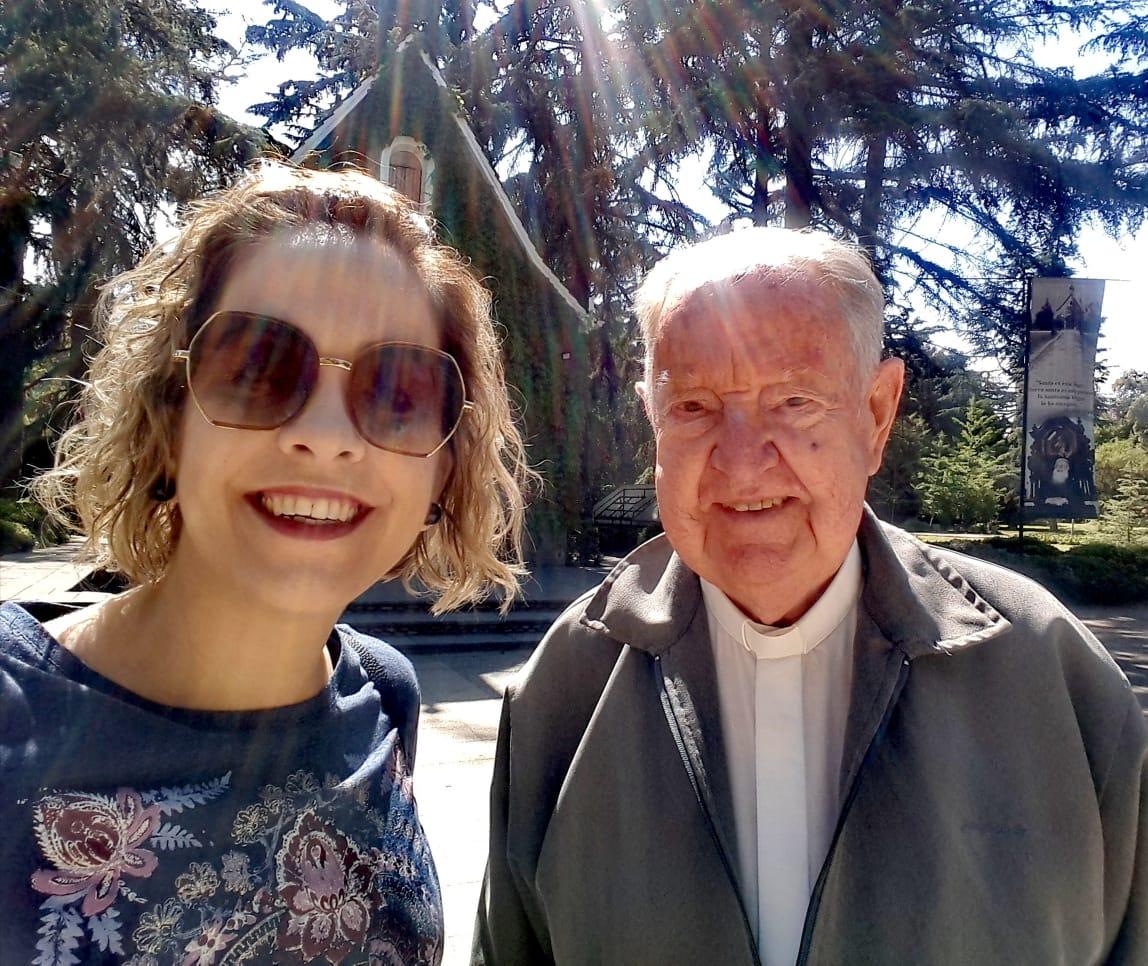 Con Luciana Rosas, en Bellavista, 2019