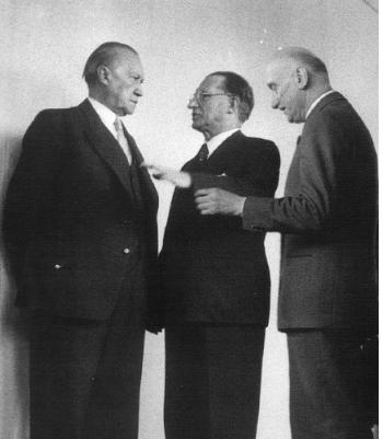 Adenauer, De Gasperi, Schuman