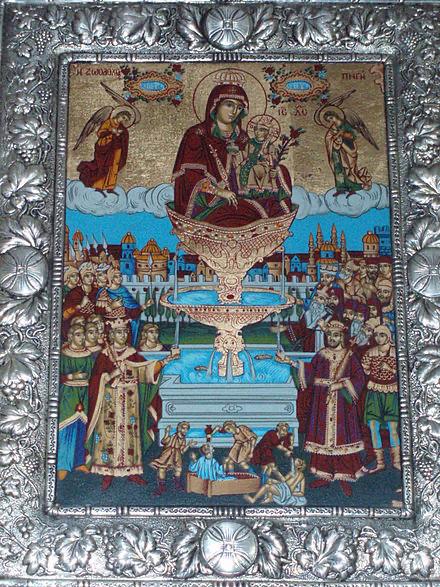 Imagen de la Virgen de Baluklí.